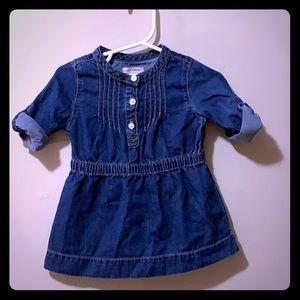 Girls 6-12 month jean dress sleeves long or short